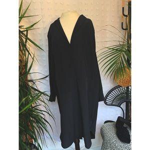 DNKY Silk Black Shirt Dress